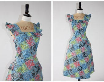 Vintage 1950s Beverly Dee dress with novelty print