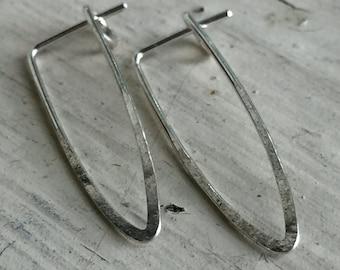 Triangle Minimal Earrings - Silver - Minimal Earrings - 3CM
