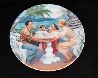 "1987 Knowles South Pacific ""Dites-moi"" Collector Plate by Elaine Gignilliat"