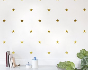 Stars Removable Vinyl Wall Decal Sticker Sheet of 50 — Multiple Sizes!