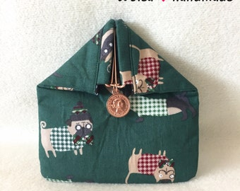 Frame purses/wallet/purse/magnetic closure/purse: rice ball