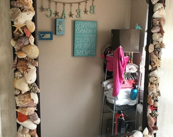 Handmade Seashell Mirror!