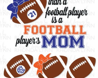 SALE! Football Mom SVG, dxf, eps, jpg, png cut file, Football svg, Tough Football Mom SVG, Football Digital Download, Football Graphic