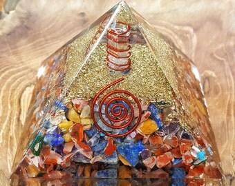7 Chakra Crystal Healing Orgone Pyramid -  478