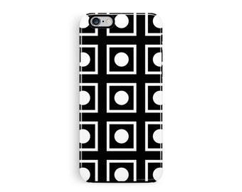 iPhone 5S Case, Grid Phone Case, Protective iPhone 5 Case, iPhone Case, Black, iPhone 5s case, Squares iPhone Case, Tough iPhone SE Case