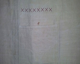 Curtain in linen and hemp