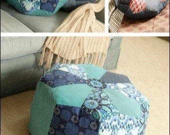 Dresden Pouf and Pillow Pattern,