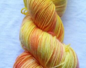 """Sock Yarn - """"IMC SOCK"""" in 'Solar Flare'"""
