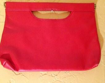 red folding purse