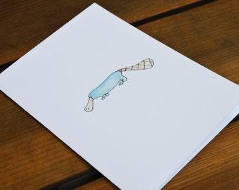 "Platypus Blank Greeting Card 5"" x 7"""