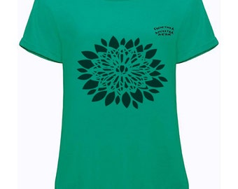 T-shirt Green Flower