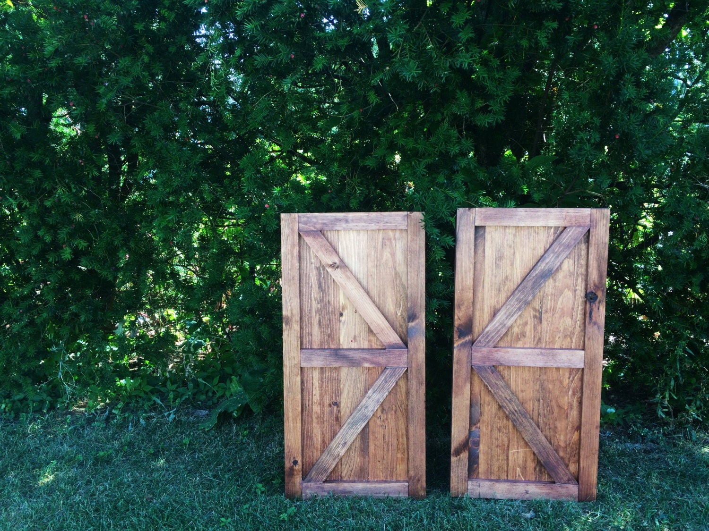 Set of mini barn doors barn door decor farmhouse decor for Decor barn doors