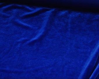 Stretch Velvet By The Yard - Royal Blue