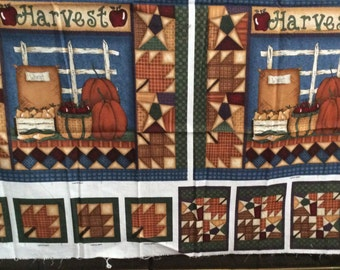 Home Grown Harvest Panel for 4 Placemats,Napkin Rings and Coasters