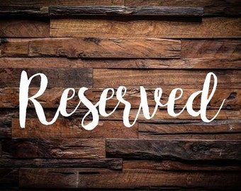 """Instant Download: 5""""x7"""" Printable Rustic Wood Reserved Sign"""