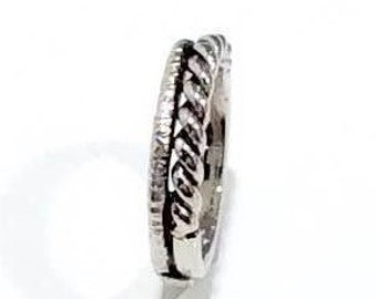 """Double ring made of 925 Silver """"gezwirbelt"""""""