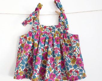Baby Top Pattern PDF Sewing Pattern – Instant download – Ties on shoulders — Romper top or Dress option