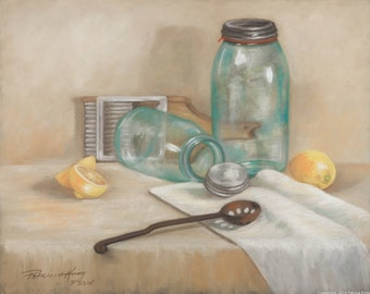 Country Jars, Giclee Prints