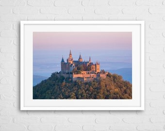European Castle Art Photo With Frame