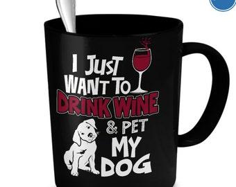 Dog & Wine Lover Mug