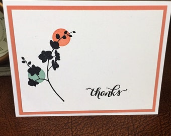 Chinese Flower Thank You Card