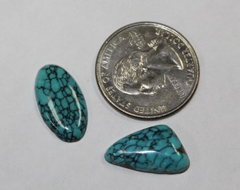 12ct  natural turquoise cabs 2pcs