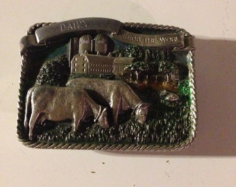 Dairy bergamont belt buckle