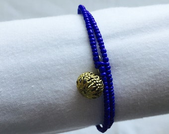 Cobalt Blue Charmed Double Coil