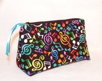 Music-Minded Cosmetic/Gadget Bag