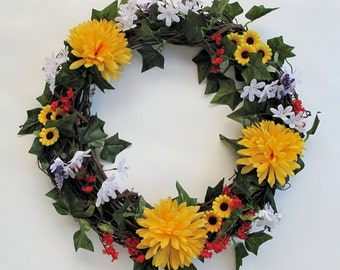 Summer Floral Wreath #51