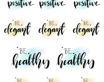 Hand lettered stickers - BE Collection - BE1606