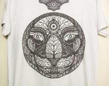 Psychedelic Tiger Head Artwork T-shirt Design