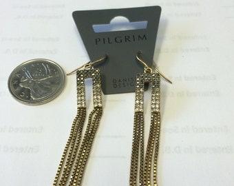Pilgrim fashion jewelry long jeweled earrings
