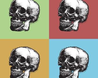 Pop Skull Squares