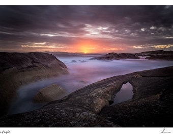 "Seascape Photo ""Pools of Light"". A3 size"