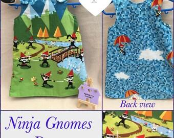 Handmade Ninja Gnome Dress Size 2