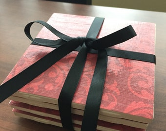 Red Coasters - Set of 4