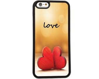 Love Two Heart iPhone Case Cover - Phone 6 + 6s 5s 5c 5 4s 4