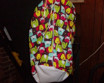 Flannel Baby Bag with Ribbon Closure
