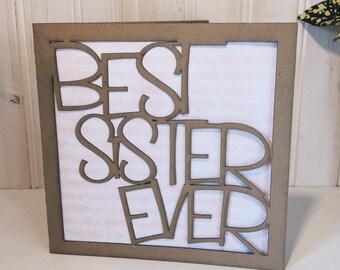 Best Sister Ever Greetings Card
