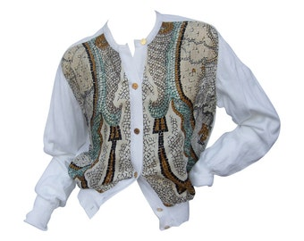 Hermes Silk and Cotton Cardigan. Size:42
