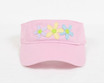 Ladies Visor with Flower Decal