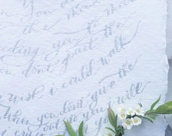 Custom Lyrics Quotation Hand-Written in Calligraphy: Worship Verse