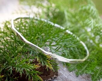 Forged Sterling Silver Bracelet
