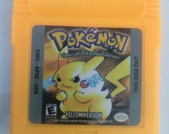 Pokemon Yellow Version for Gameboy Color with case