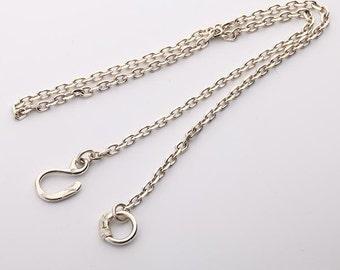 Simple Silver Chain | Minimalist Necklace | Plain Silver Chain | Sterling Silver Necklace | Layering Necklace | Eagle Head Necklace Tribal
