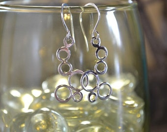 Sterling Silver Bubble Earrings