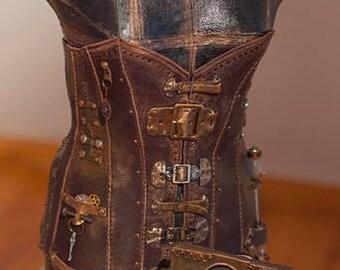 Handmade steampunk corset.