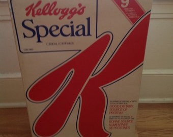 Huge Kellogg's giant box of cereal advertising store display double sided sign