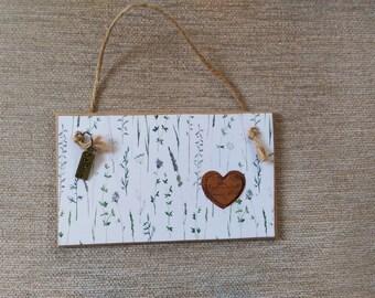 small hand made plaque